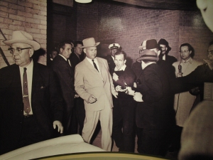 A high quality photo of the moment that Lee Harvey Oswald was shot. As you can see he could do nothing for himself.