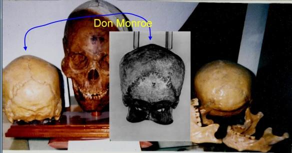 Polynesian skull arrowed