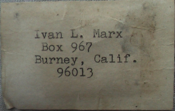 Ivan Marx name tag from rifle case smaller
